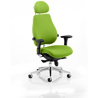 Chiro Plus Ultimate Posture Chair, With Headrest, Myrrh Green