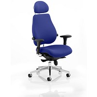 Chiro Plus Ultimate Posture Chair, With Headrest, Stevia Blue