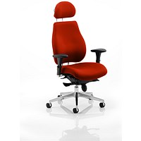Chiro Plus Ultimate Posture Chair, With Headrest, Tabasco Red