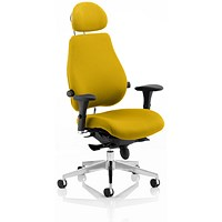 Chiro Plus Ultimate Posture Chair, With Headrest, Senna Yellow
