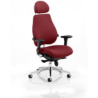 Chiro Plus Ultimate Posture Chair, With Headrest, Ginseng Chilli
