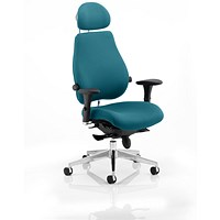 Chiro Plus Ultimate Posture Chair, With Headrest, Maringa Teal