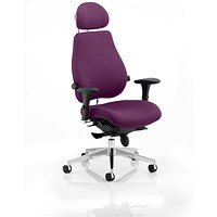 Chiro Plus Ultimate Posture Chair, With Headrest, Tansy Purple