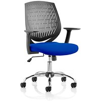Dura Task Operator Chair, Black Back, Stevia Blue