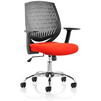 Dura Task Operator Chair, Black Back, Tabasco Red