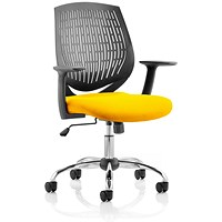 Dura Task Operator Chair, Black Back, Senna Yellow