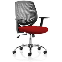 Dura Task Operator Chair, Black Back, Ginseng Chilli