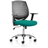 Dura Task Operator Chair, Black Back, Maringa Teal
