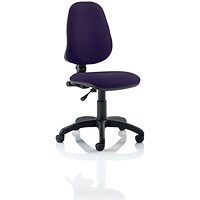 Eclipse 1 Lever Task Operator Chair - Tansy Purple