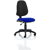 Eclipse 1 Lever Task Operator Chair, Black Back, Stevia Blue