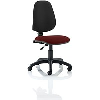 Eclipse 1 Lever Task Operator Chair, Black Back, Ginseng Chilli