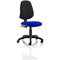 Eclipse 2 Lever Task Operator Chair, Black Back, Stevia Blue
