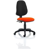 Eclipse 2 Lever Task Operator Chair, Black Back, Tabasco Red