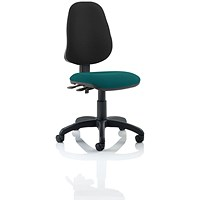 Eclipse 2 Lever Task Operator Chair, Black Back, Maringa Teal