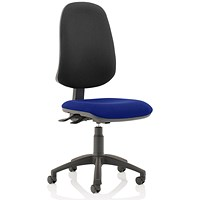 Eclipse XL 3 Lever Task Operator Chair, Black Back, Stevia Blue