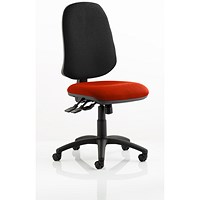 Eclipse XL 3 Lever Task Operator Chair, Black Back, Tabasco Red