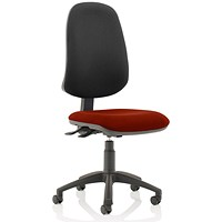 Eclipse XL 3 Lever Task Operator Chair, Black Back, Ginseng Chilli