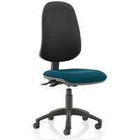 Eclipse XL 3 Lever Task Operator Chair, Black Back, Maringa Teal