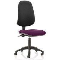 Eclipse XL 3 Lever Task Operator Chair, Black Back, Tansy Purple