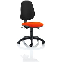 Eclipse 3 Lever Task Operator Chair, Black Back, Tabasco Red