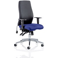 Onyx Posture Chair, Black Back, Stevia Blue