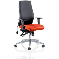 Onyx Posture Chair, Black Back, Tabasco Red