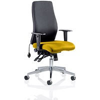 Onyx Posture Chair, Black Back, Senna Yellow