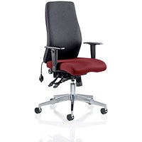 Onyx Posture Chair, Black Back, Ginseng Chilli