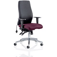 Onyx Posture Chair, Black Back, Tansy Purple