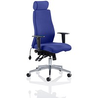 Onyx Posture Chair, With Headrest, Stevia Blue