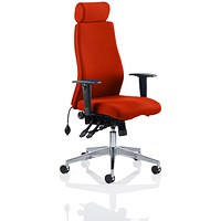 Onyx Posture Chair, With Headrest, Tabasco Red