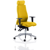 Onyx Posture Chair, With Headrest, Senna Yellow
