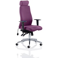 Onyx Posture Chair, With Headrest, Tansy Purple
