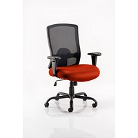Portland HD Operator Chair, Mesh Back, Tabasco Red