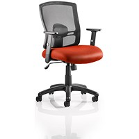 Portland Task Operator Chair, Mesh Back, Tabasco Red