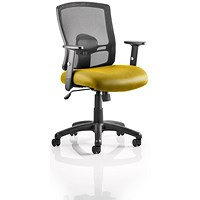Portland Task Operator Chair, Mesh Back, Senna Yellow
