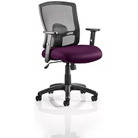 Portland Task Operator Chair, Mesh Back, Tansy Purple