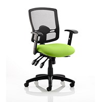 Portland 3 Operator Chair, Mesh Back, Myrrh Green