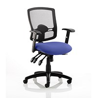 Portland 3 Operator Chair, Mesh Back, Stevia Blue