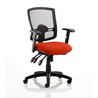 Portland 3 Operator Chair, Mesh Back, Tabasco Red