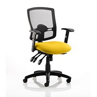 Portland 3 Operator Chair, Mesh Back, Senna Yellow