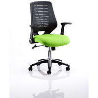 Relay Task Operator Chair, Black Mesh Back, Myrrh Green