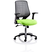 Relay Task Operator Chair, Silver Mesh Back, Myrrh Green