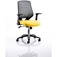Relay Task Operator Chair, Silver Mesh Back, Senna Yellow