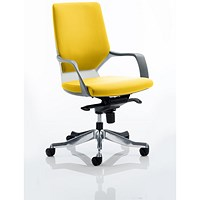 Xenon Medium Back Executive Chair, White Shell, Senna Yellow