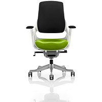 Zure Executive Chair, Black Back, Myrrh Green