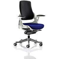Zure Executive Chair, Black Back, Stevia Blue