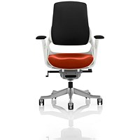 Zure Executive Chair, Black Back, Tabasco Red