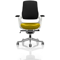 Zure Executive Chair, Black Back, Senna Yellow