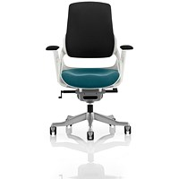 Zure Executive Chair, Black Back, Maringa Teal
